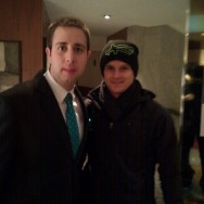 Con el piloto de F1 Heikki Kovalainen