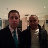Con el piloto de F1 Lewis Hamilton