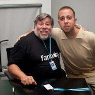 Con Steve Wozniak cofundador de Apple